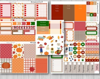 Fall Harvest Vertical Weekly Planner Kit