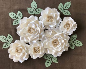 ALL about ROSES Paper flower backdrop min/Paper flower wall/Wedding Backdrop/Bridal Baby shower/Nursery decor/Naming day/Christening/Baptism