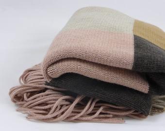 Caroll  winter fringed shawl
