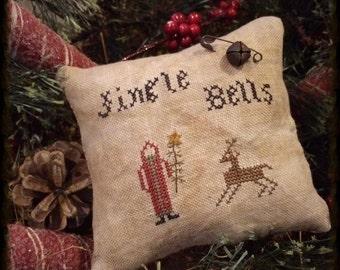 Primitive Christmas Decor | Christmas Tuck | Primitive Christmas | Belsnickle | Cross Stitch | Bowl Filler  | Pin Keep | Stitchery | Prim