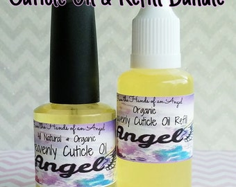 Heavenly Cuticle Oil and Refill Bundle Pack (15 ml oil & 30 ml refill) Please pick a scent and leave it in the notes.