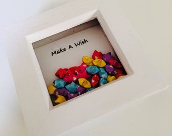 Make A Wish | Stars | Gift | Birthday | Origami | Lucky Stars | Cute | Box Frame
