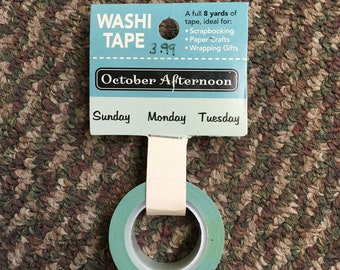 Washi Tape October Afternoon - Days