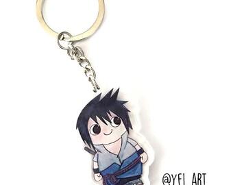 Sasuke Uchiha Chibi Keychain -  Shippuden - Anime - Acrylic Keychains - Key Rings - Anime gift