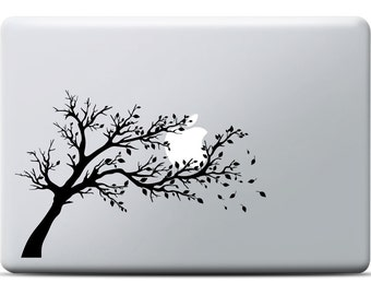Windy Tree MacBook Sticker | Cool MacBook Sticker | Laptop Decal | MacBook Air Sticker | MacBook Pro Sticker | MaCBook Sticker Nature