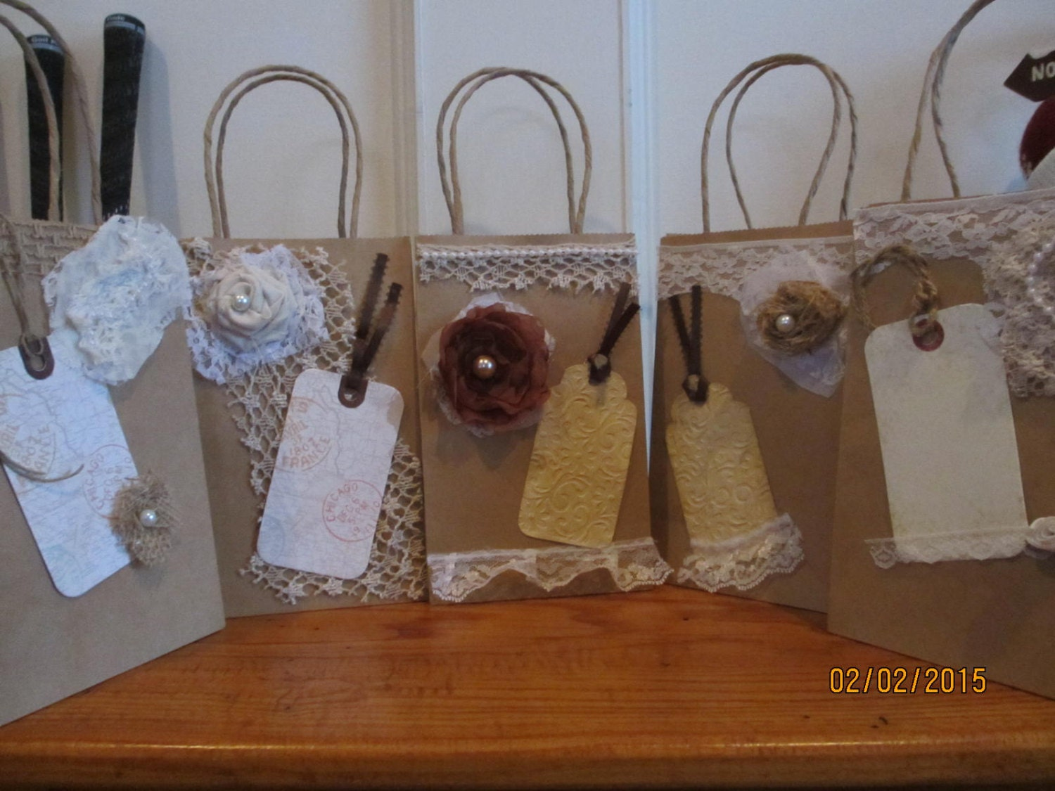 New Item Sale 5 Assorted Rustic Shabby Chic Hotel Wedding Guest Gift ...