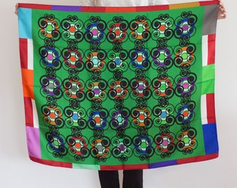 Designer silk scarf, 110cm * 90cm