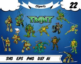 22 Ninja turtles clipart,Ninja turtles svg,ninja turtles shirt, ninja turtles print,turtles printable,ninja printable,michelangelo svg