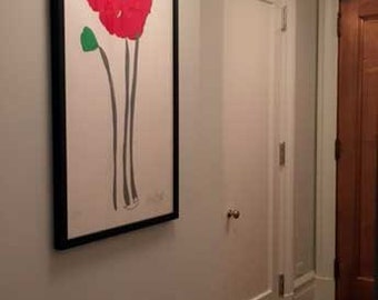 Poppy Flower, Remembrance Poppy, Veterans Poppy, Flower Art, Fine Art  Red Poppy Flower, Hand painted red flower poppy, Memorial red poppy