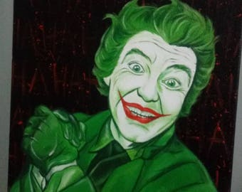 Joker haha fan art original painting