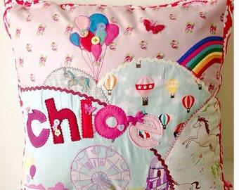 Fairground Cushion ~ Custom pillow ~ Carousel circus fairground decor