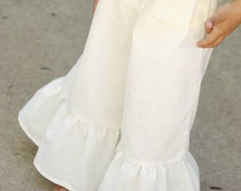Toddler Solid Ruffle Pants