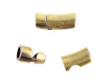 Magnetic clasp bronze 22x9mm (24)