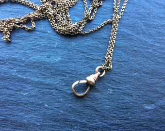 Gold filled pocket watch necklace Victorian chain