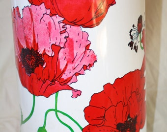 King Air Pot Coffee Thermos Pot Red Pink Poppy Flower Coffee Server Beverage Dispenser