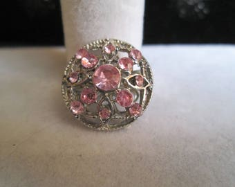 Pink and Silver Crystal Pin #2