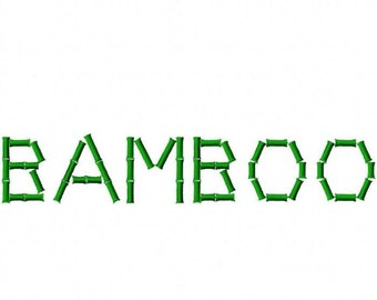 Bamboo Machine Embroidery Fonts 1491