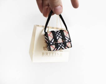 British Plaid School messenger bag