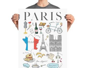 Paris Poster, France Poster, Paris Wall Art, Paris Room Decor, Paris, Paris Decor, I love Paris,