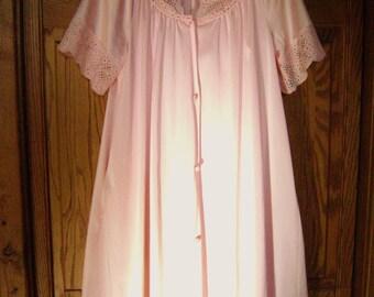 Vintage Negligee Set, Peignoir, Pretty Pale Pink, Medium, Nightgown, Robe, Feminine Bride, Vanity Fair, USA, Marilyn Monroe, Wedding Night