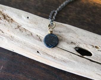 deep inhale . kyanite necklace