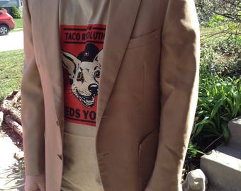 Vintage hipster 70s Phoenix Clothes for KG Mens Store tan mens sport coat 44R free domestic shipping