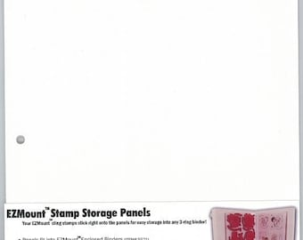 EZ MOUNT Stamp Storage Panels 8.5 x 11 for cling stamps Large storage panel 5pk.