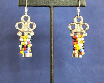 Key Earrings - Suitcase Keys - Vintage - Multi-color - Avant Garde - Funky - Eclectic - Boho -
