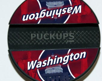 Washington Capitals - NHL - Hockey Puck Cell Phone Stand  - iPhone / Galaxy / Generic Smartphone Stands by PuckUps
