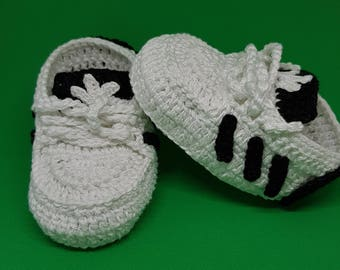 Adidas Style Baby Crochet Shoes
