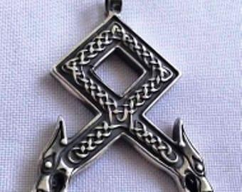 Othala, Odal, Othila, Rune pendant, celtic pendant,  óðal