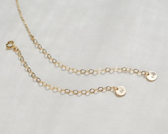 Chain Extender // Attached extender, removable extender, necklace lengthener, gold chain extender, gold extender chain, extender rose gold