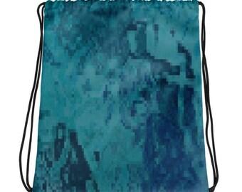 Mini-Rucksack-Beutel - Techno-blau