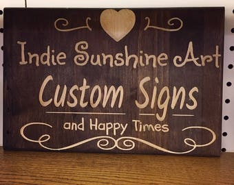 Custom Wood Signs, Personalized Last Name Sign, Family Sign, Custom Quote Sign, Custom Carved Wood Sign