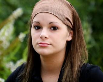 Linen Bandana, Brown Headscarves, Linen Head Scarf, Dreadlock Headcovering, Natural Fabric Headband (#4708) S M L X