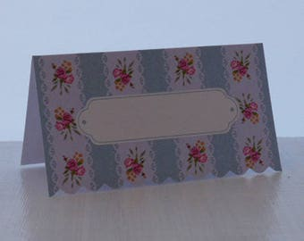 Set of 12 vintage style place cards