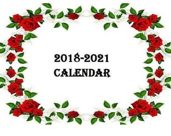 2018-2021 CALENDAR, 4 YEAR CALENDAR