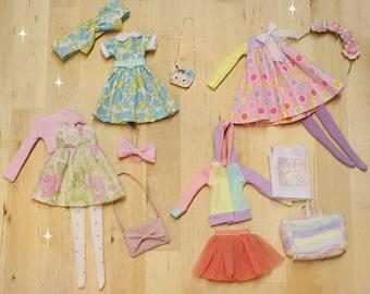 Ooak Pullip doll Outfit set PASTEL 02 - by Nerea Pozo
