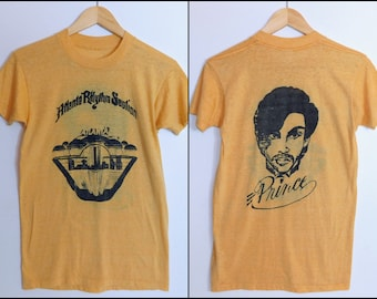 Ultra Rare One Off Vintage 70s Prince Tour with Atlanta Rhythm Section T shirt~Thin 50/50 ~Size Adult Small to Medium ~See Dimensions Below