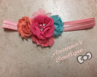 Pastel Shabby Chic Headband flower