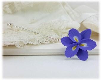Purple Freesia Brooch or Stick Pin - Freesia Jewelry