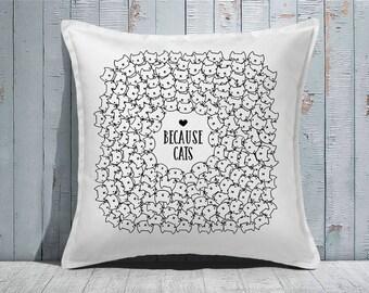 Custom Decorative Pillow | Throw Pillow | Custom Pillow | 20 x 20 Pillow Cover | Custom Pillow Cover | Personalized Pillow | cats