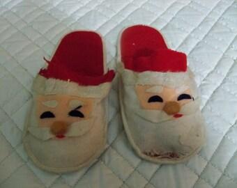 peekaboo very old  santa claus slippers