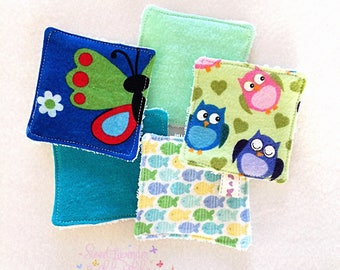Color Mix Washable/Reusable Makeup Wipes*Pads. Soft and gentle on sensitive skin. 1 Set 5 Wipes*Pads in total