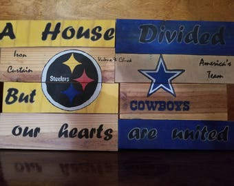 House Divided Fooball Sign
