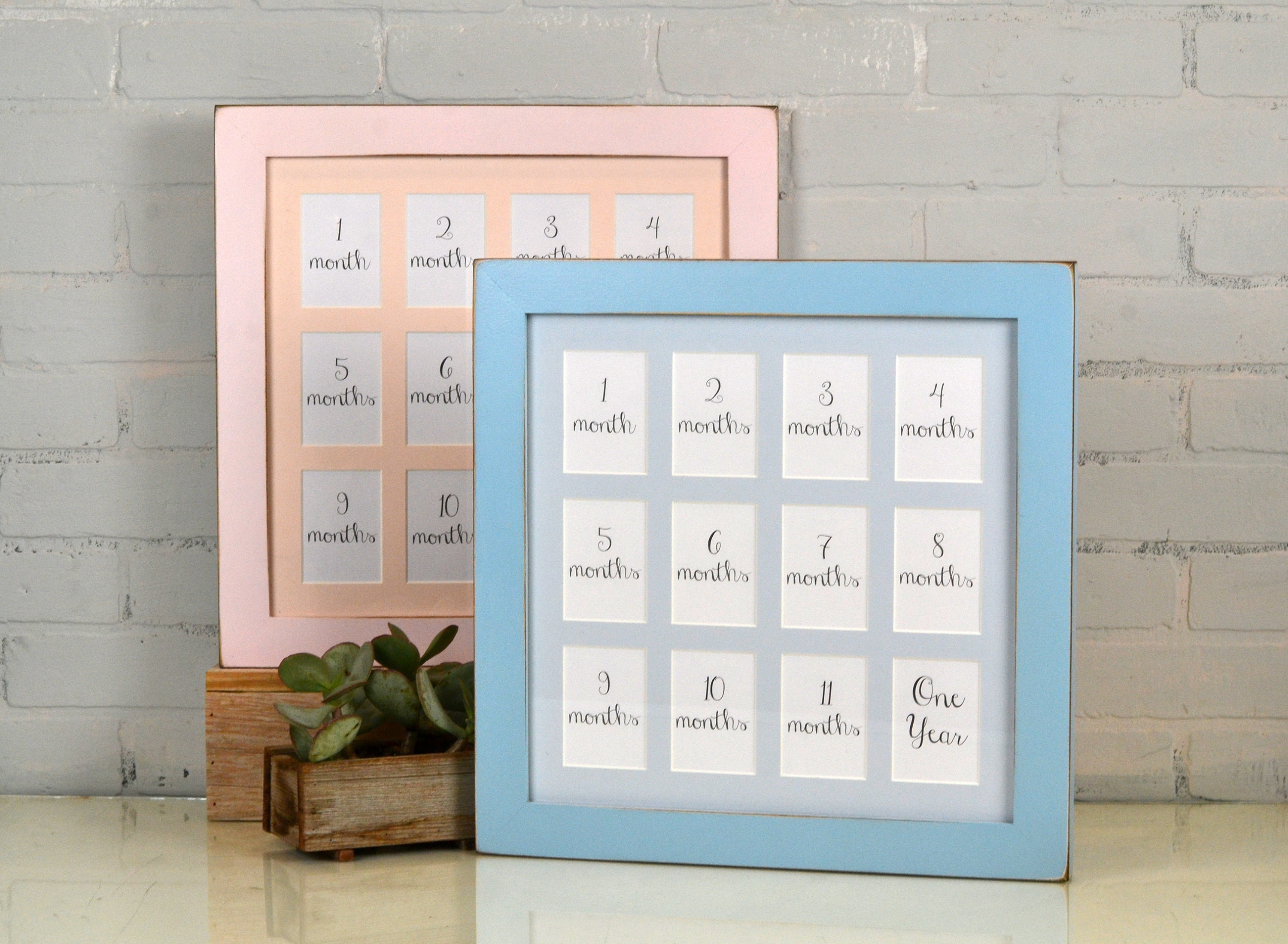 14x14 School Days or Baby\'s First Year Frame with Mat for (12) 2.5 x ...