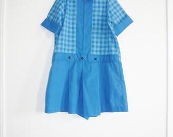 Vintage Junior Blue Romper