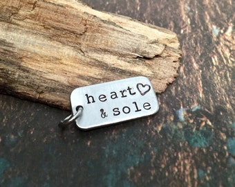 Gifts for Runners Marathon Gift Heart and Sole Running Charms for Half Marathon or Ultra Presents for the Runner Endurance Jewelry