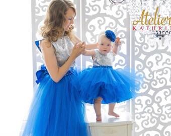Partner look mommy and me dress dresses mother daughter matching dresses Familylook mom daughter flower girl flower girl dress Christening