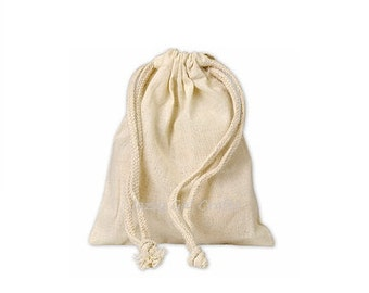 Muslin Drawstring Favor Bags (3x4)